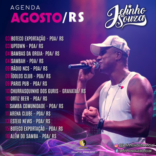 Agenda agosto Jefinho Souza